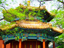 East octagonal pavilion. The octagonal pavilion in the east of Hall of Heavenly Kings inside the Lama Temple Beijing China Royalty Free Stock Photos