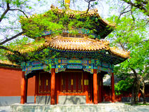 East octagonal pavilion. The octagonal pavilion in the east of Hall of Heavenly Kings inside the Lama Temple Beijing China Stock Photography
