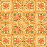 East orange patterns. Orange background with east floral patterns Royalty Free Stock Images