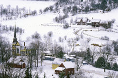 East Orange, VT covered in snow during winter Royalty Free Stock Images