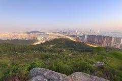 East overlook the haicang bridge at twilight Royalty Free Stock Photo