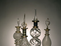East parfume bottle from Egypt  dramatic light Royalty Free Stock Image