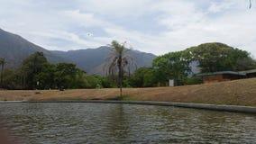 East Park. Caracas Lagoon Avila Mountain stock photography