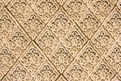 East patterns on a wall. To serve as background Royalty Free Stock Images