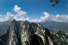 East peak in Mount Hua China Stock Image