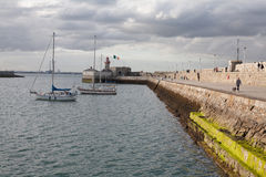East Pier, Dun Laoghaire, Ireland. Date: August 15,  2015. The photo was taken on East Pier of Dun Laoghaire Royalty Free Stock Image