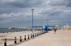 East Pier, Dun Laoghaire, Ireland. Date: August 15,  2015 Stock Photography