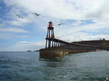East Pier,Whitby Harbour Royalty Free Stock Image