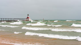 East Pierhead Lighthouse, Michigan City, IN Royalty Free Stock Images