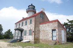 East Point Lighthouse. On the Maurice River, NJ Royalty Free Stock Photos