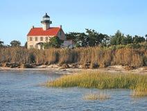 East Point Lighthouse. Near Thompson Beach, New Jersey Royalty Free Stock Photos