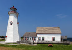 East Point Lighthouse, EAST POINT, PRINCE EDWARD ISLAND, CANADA Stock Image