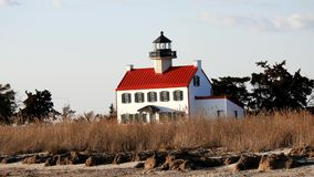 East Point Lighthouse  Heislerville New Jersey stock footage