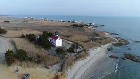 East Point Lighthouse Maurice River Heislerville NJ stock video