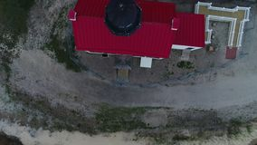 East point lighthouse Maurice River Heislerville NJ stock footage