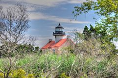 East Point Lighthouse in NJ HDR. East Point Lighthouse take in HDR, located in New Jersey Stock Photo