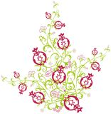 East Pomegranate Pattern Royalty Free Stock Photo