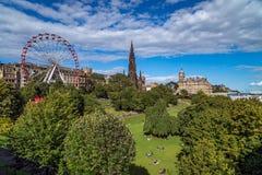 East Princes Street Gardens, Edinburgh, Scotland. On a sunny day stock photo