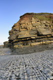 East Quantoxhead Beach. Blue Lias Beach and Shale, Marl & Limestone Cliffs, East Quantoxhead Beach, Somerset, England Royalty Free Stock Photography