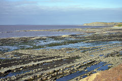 East Quantoxhead Beach. At low tide, Kilve, West Somerset Coast Stock Photo