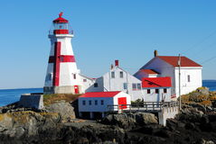 East Quoddy Lighthouse, New Brunswick Canada Royalty Free Stock Photos
