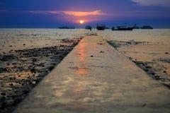 East Railay Beach. Sunrise at East Railay Beach Stock Photos