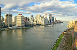 East River - aerial view. Royalty Free Stock Photos