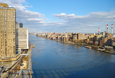 East River - aerial view. Royalty Free Stock Images