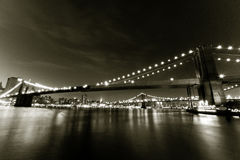 East River bridges Royalty Free Stock Images
