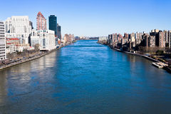 East River en New York City Foto de archivo libre de regalías