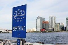 East River Fährhafen Stockbild