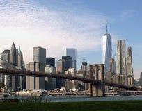 East River från Brooklyn, New York City Royaltyfria Foton