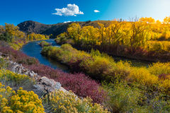 Free East River Near Taylor HWY 135 Colorado Fall Landscape Stock Image - 63575361