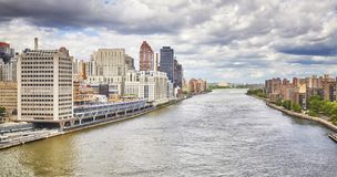 East River in New York City, USA. Royalty Free Stock Images