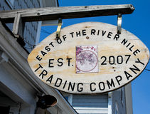 East of the River Nile; Trading Company, Block Island, RI. Royalty Free Stock Photography