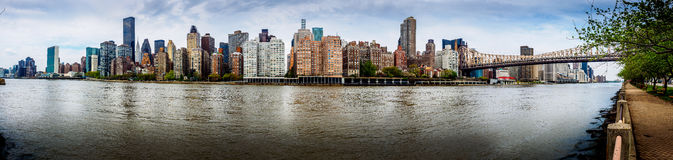 East River Panorama Stockfotos