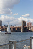 East River Sailboat Stock Photo