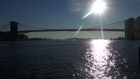 East River in New York City stock footage