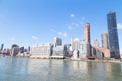 East River waterfront of Manhattan, New York city. Stock Images