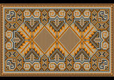 East rug in warm brown orange brown nuances Stock Photo