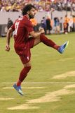 Mohammed Salah #11of Liverpool FC in action against Manchester City during 2018 International Champions Cup game. EAST RUTHERFORD, NJ - JULY 25, 2018: Mohammed stock photo