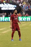 Mohammed Salah #11of Liverpool FC in action against Manchester City during 2018 International Champions Cup game. EAST RUTHERFORD, NJ - JULY 25, 2018: Mohammed stock photography