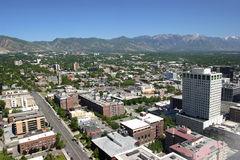 East Salt Lake city, city view and mountains Utah. royalty free stock photography