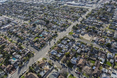 East San Fernando Valley Aerial Royalty Free Stock Image