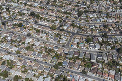 East San Francisco Bay Middle Class Nieghborhood Aerial Royalty Free Stock Photos