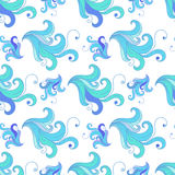 East sea curls pattern seamless Royalty Free Stock Images
