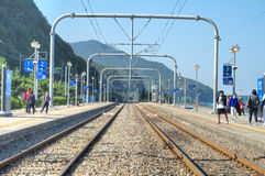 East Sea Train Station, Jeongdongjin Royalty Free Stock Photography