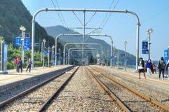 East Sea Train Station, Jeongdongjin Royalty Free Stock Photography