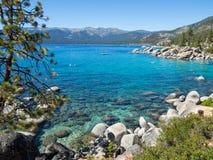 East Shore, Lake Tahoe. Shoreline near Sand Harbor, Lake Tahoe, Nevada Royalty Free Stock Images