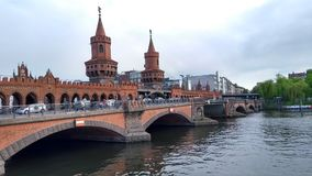 East side bridge Oberbaum Bridge, Berlin Germany Stock Photos